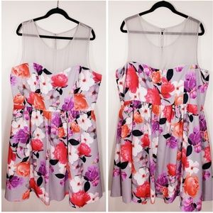 City Chic floral printed dress size XL